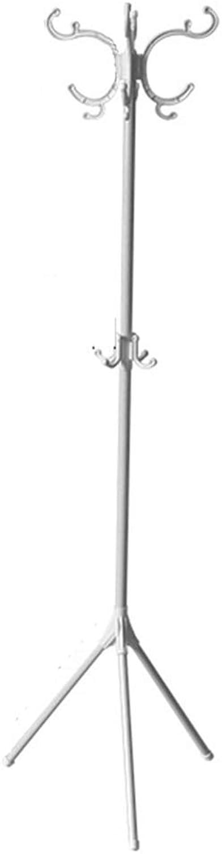 Clothes Hat Tree-Coat Rack Floor Hanger Wrought Iron Storage Rack Brown White,171.5cm49cm49cm FENPING (color   White)