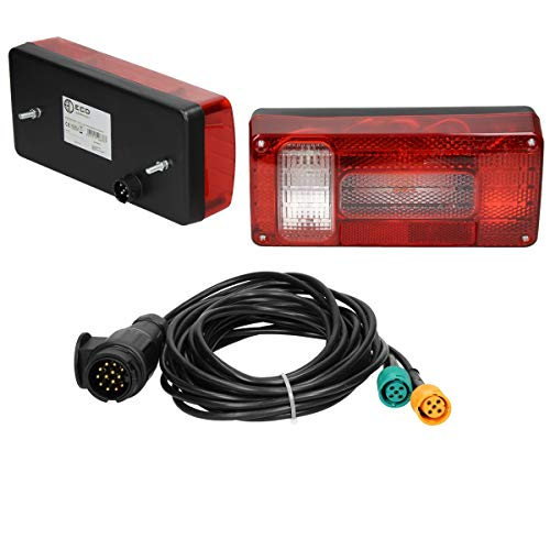 ECD Germany Kit Luces Traseras Halógenas 12V Compactas con Cable Conexión de...