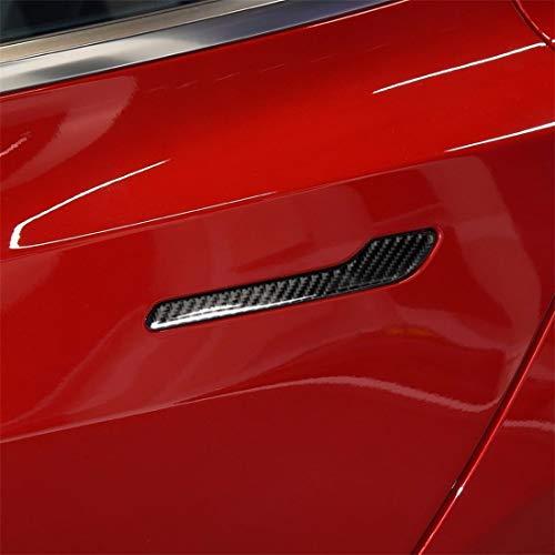 Auto Buitenkant Stickers Koolstofvezel Auto Buiten Handvat Decoratieve Sticker, voor Tesla Model 3 (4 PCS)