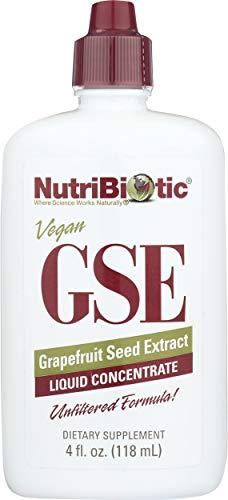 NutriBiotic | GSE Grapefruitsamen-Extrakt | Flüssiges Konzentrat | 4 fl oz (118 ml) | vegan | glutenfrei