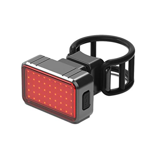 Luz de freno de bicicleta súper brillante Luz de freno inteligente recargable USB (Intellisense Brake Red Light Type Black)