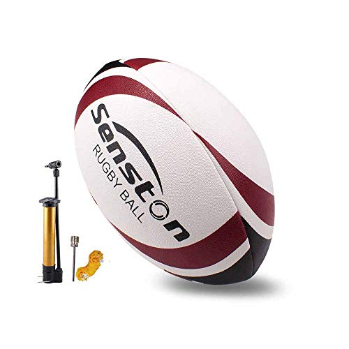 Senston Rugby Ball Ultra Grip Rugbyball Größe 5 Rugbybälle