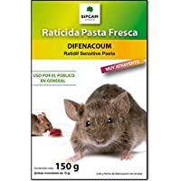 Raticida para Exteriores contra Ratas y Ratones Rojo Cebo Fresco anticoagulante de acción rápida 10 x 15 gr (150 gr)