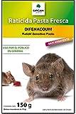 Raticida para exteriores e interiores contra Ratas y Ratones Rojo Cebo Fresco anticoagulante de acción rápida 10 x 15 gr (150 gr)