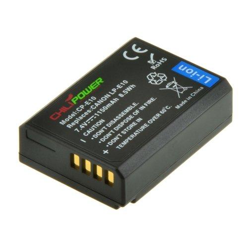 Batería ChiliPower Canon LP-E10 1150mAh para Canon EOS 1100D, EOS Rebel T3, EOS Kiss X50
