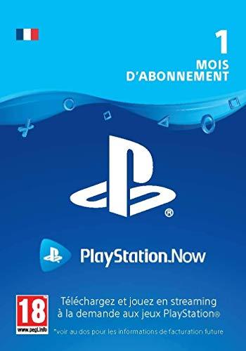 Sony PlayStation Now, Carte d'abonnement de 1 mois, Code jeu à télécharger, Compte Français