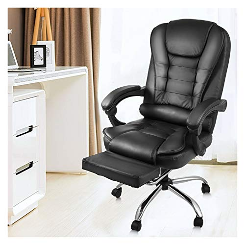XXY Reclinable Silla de computadora Cuero Giratorio Gamer Jugador Silla Solicitud Ascensor Ejecutivo Ejecutivo (Color : USA Warehouse)