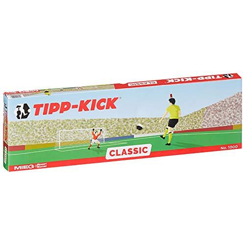 TIPP-KICK Classic 78,5x47,5 cm – Das spielfertige Set mit 2X Spieler, 2X Torwart, 2X Plastiktor, 2X Ball I Spielfeld aus Filz