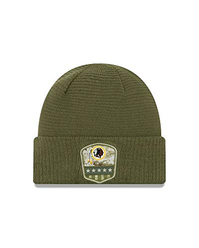 New Era - NFL Washington Redskins On Field 2019 Salute to Service Knit Cuff Beanie - Olivgrün Größe One Size