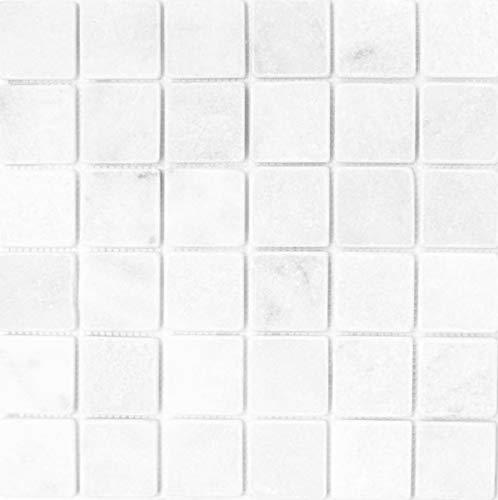 Mosaik Fliese Marmor Naturstein weiß Ibiza Antique Marble MOS40-42048