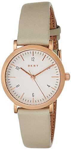 DKNY Damen Analog Quarz Uhr mit Leder Armband NY2514