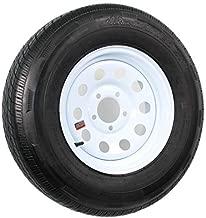 Radial Trailer Tire On Rim ST205/75R14 Load C 5 Lug White Modular Wheel