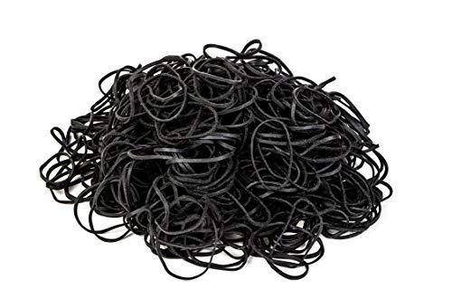PrimeMed Tattoo Black Rubber Bands – Soft Elastic Rings for Tattoo Machine Gun (1/4 Pound Bag)