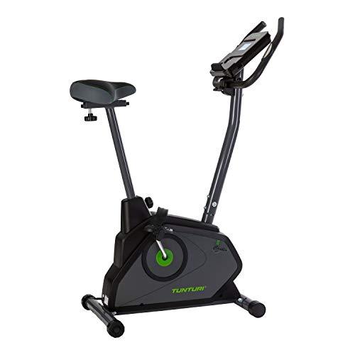 Tunturi Cardio Fit E30 Ergometer Heimtrainer Fahrrad/Fitnessfahrrad/Fahrradergometer/Hometrainer Fahrrad mit Handpulssensoren + Tablethalterung - Magnetbremssystem und LCD