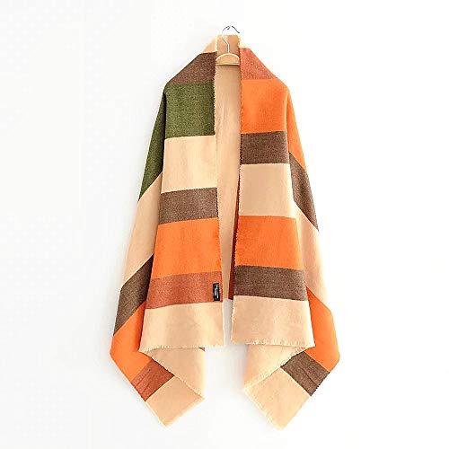 FNMDP Bufanda de Rayas Multicolor Suave y Confortable Cashmere Shad Mantones y envueltos Winter Warm Bufanda