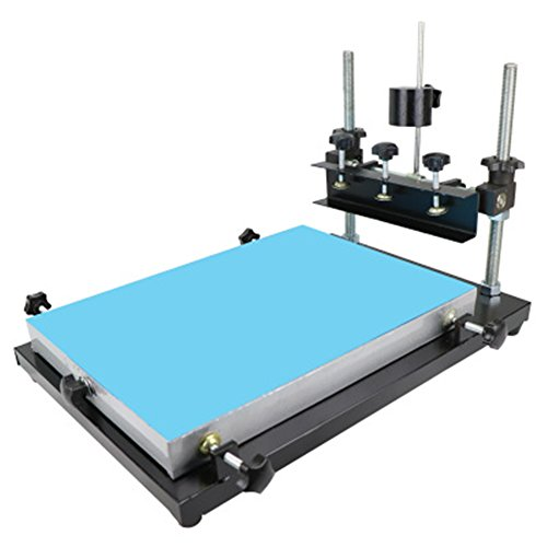 CGOLDENWALL écran Impression Table manuel SMT Pâte à souder Table d'impression d'imprimante machine d'impression pour l'impression d'écran en aluminium Paster Printing area :320 * 440mm
