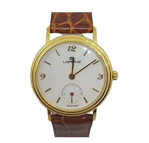 Orologio donna oro 18 kt Lorenz 20262AA Classico tondo quadrante bianco cinturino pelle