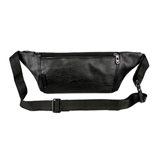 Floridivy PU Mannen Fanny Pack Bum Sports Bag Women Taille waist pouch, tas verstelbare riem met grote capaciteit Waist Pouch