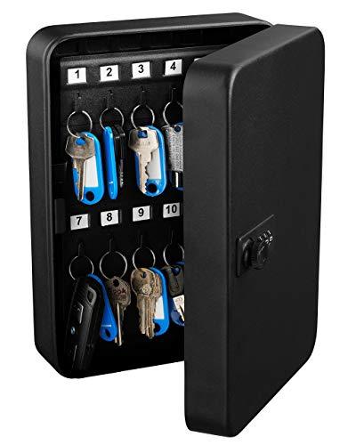 Adiroffice Combination Lock Keys Cabinet Security Storage Box Organizer Holder Locked Key Box Wall Mount Steel 48 Slots
