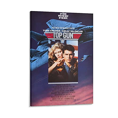 JIAN Original Top Gun Movie Poster Poster Decorative Painting Canvas Wall Art Living Room Posters Bedroom Painting 12×18inch(30×45cm)
