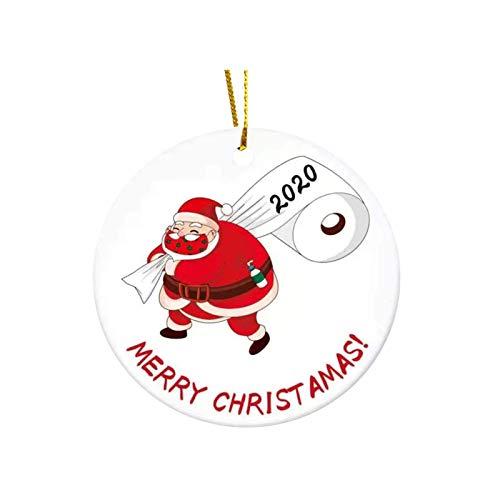 N/G Alifewill Christma Ornament 2020, Nuevo Colgante Iluminado para decoración de árbol de Navidad, Colgante sin Rostro para Hombre Viejo