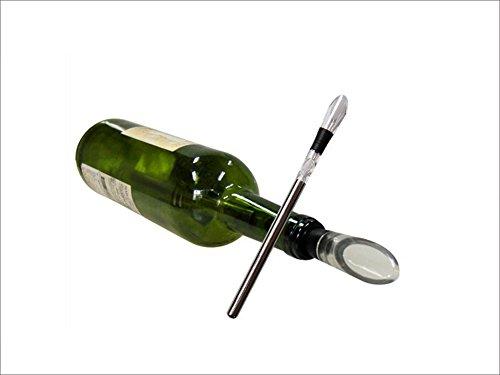Lshky Accesorio De Vino, Jarra De Aireador con Pourer -3-En-1 DE Acero Inoxidable Botella De Vino Enfriador Stick (Wine Chiller)