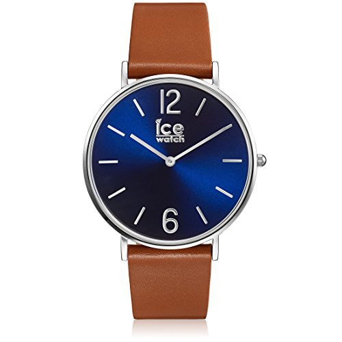 Ice-Watch - CITY tanner Caramel Blue - Men's (Unisex) wristwatch with leather strap - 001508 (Small)