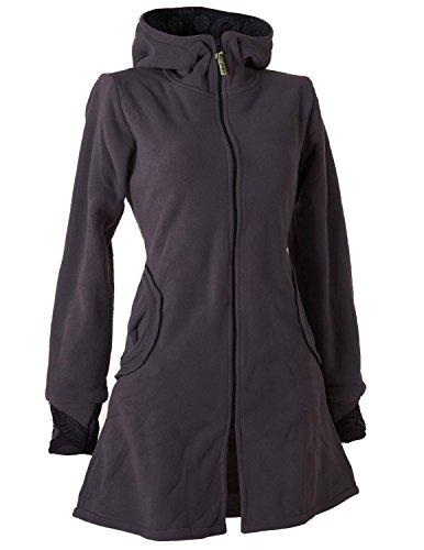 Vishes - Alternative Bekleidung - Warmer Elfen Kurzmantel mit Zipfelkapuze dunkelgrau 42