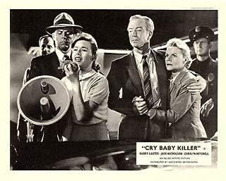 CRY Baby Killer Original Lobby Card Harry Lauter Carolyn Mitchell 1958