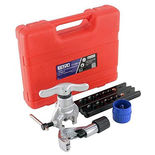 MEICHEN Bördelgeräte Set Schläuche Rohr 1/4-3/4-Zoll-Winkel von 45 Grad Exzentrisch Kegel Typ Kit mit Kupfer Messing Aluminium Baustahl CT-808F