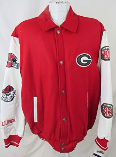 georgia bulldogs leather jacket - 2
