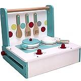 TikTakToo tragbare Kinderküche zum mitnehmen aus Holz Kinderspielküche klappbare Spielküch