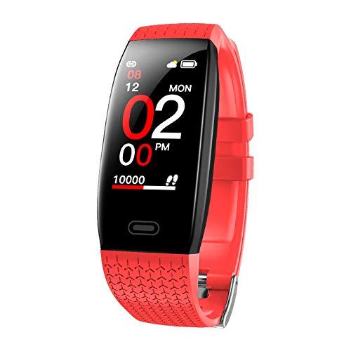 LOVOVR Monitor de actividad, monitor de temperatura corporal, IP68 con monitor de sueño GPS, podómetro, contador de notificación, reloj deportivo inteligente, para hombre y mujer