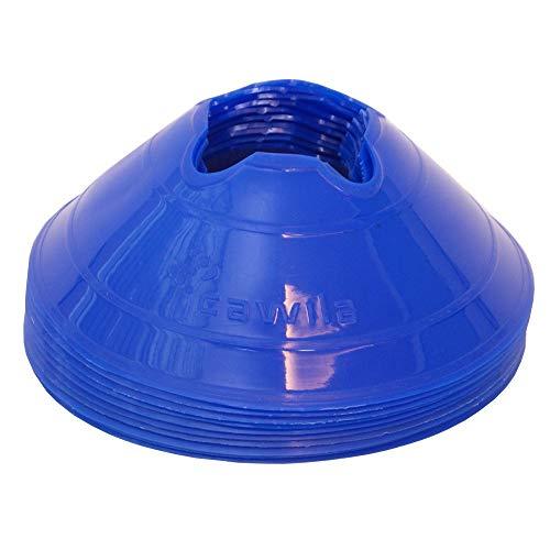 Cawila 00500140–Coni d' indicazione fette M, Set di 10, Colore Blu, 6cm, 00500134