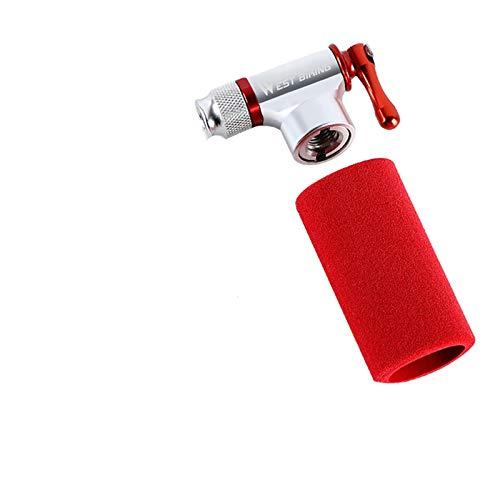 Mini bomba de bicicleta Mini bomba de bicicleta de CO2 Bomba de mano portátil de aleación de aluminio MTB para bicicleta de carretera con inflador de CO2 para baloncesto, fútbol, ciclismo