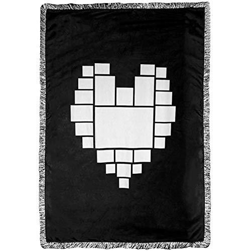 AQWJ - Coperta a sublimazione a forma di cuore, con stampa a caldo, 100% poliestere, foto personalizzate a sublimazione con 25 pannelli, 100 x 160 cm