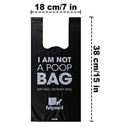 Miyouli 300 Counts Extra Thick Black Biodegradable Pet Poop Waste Bags With Handles for Dogs,Unscented 3