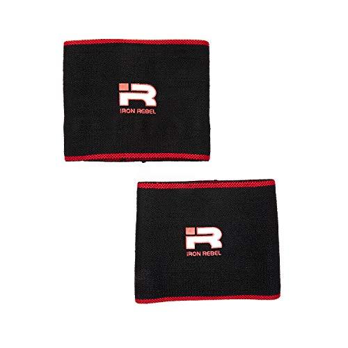 Iron Rebel Ellenbogenbandagen – Kompressionsbandage für Powerlifting, Bodybuilding, Training oder Muskelregeneration für Männer und Frauen (Paar)