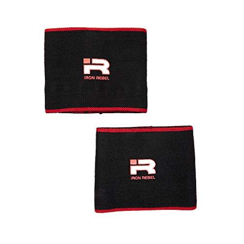 Iron Rebel Elbow Sleeves - Compression Support for Powerlifting, Bodybuilding, Training or Muscle Recovery for Men and Women (Pair)