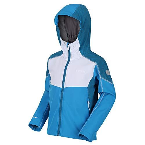 Regatta Acidity IV Shell Jacket, BluAster/WHT, 15 Years Unisex-Child