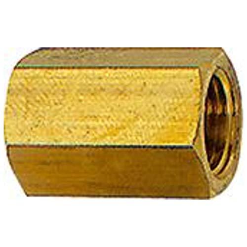 Manchon avec hexagonal extérieur G 1, SW 41, laiton, pression de travail max. 25 bars, tampon de fonctionnement. Charge maximale : 150 °C, L1 = 40 mm.