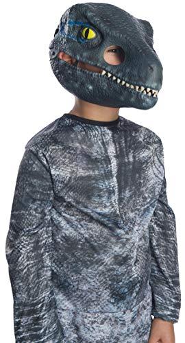Rubie's Jurassic World: Fallen Kingdom Child's Blue Velociraptor Movable Jaw Mask