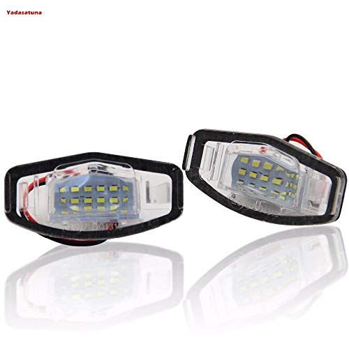 2Pcs Non-Destructive Installation Canbus Oe Style Led License Plate Frame Light, With 18Pc 3528Smd Led For Honda Accord 4D(08-16,White