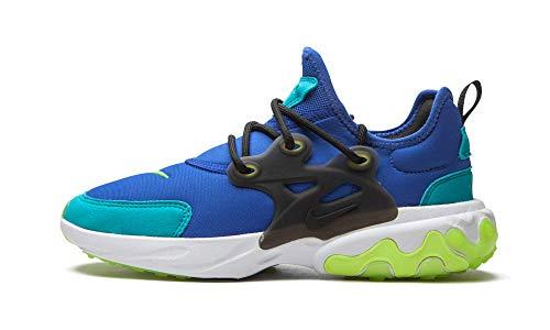 Nike Big Kids React Presto Running Shoes (Hyper Blue/Black/Oracle Aqua/Ghost Green, Numeric_5)