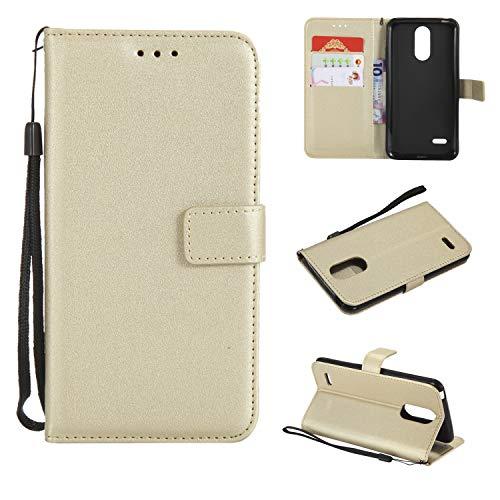 TTUDR Leder Wallet Case für LG K8 (2017) / US215 Wallet Flip Case mit Kickstand Kartenfächer Magnetverschluss Schutzhülle für LG K8 2017 - TTMS020851 Gold