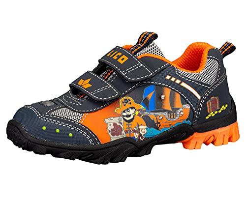 Lico Pirate V Blinky Jungen Sneaker, marine/orange, 29 EU