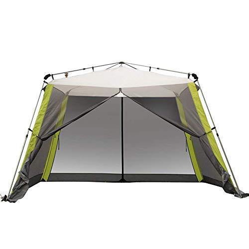 Generic Brands 3m Pop Up Garden Gazebo avec côtés, Tente de Cinq Hommes auvent étanche auvent Camping Sac à Dos dôme abri Portable