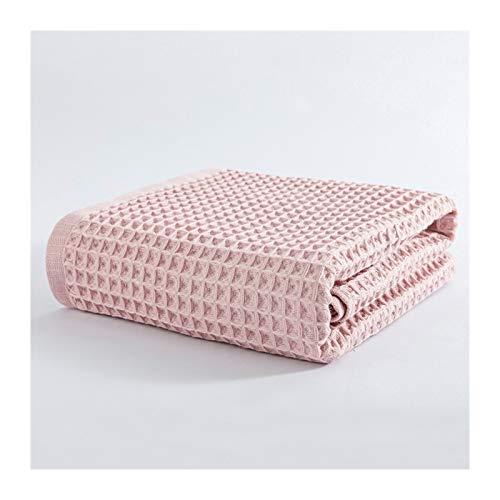 Sábanas Toalla 70x140cm Algodón Waffle Toallas Baño por Blando Adultos Absorbentes Hogar Toalla Baño Toalla Fija, Toallas Set (Color : Pink, Size : 2pcs (S) 2pcs (L))