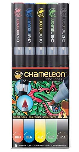 "Pennarelli ad alcool ""Chameleon"" Primary Tones Qté 5"
