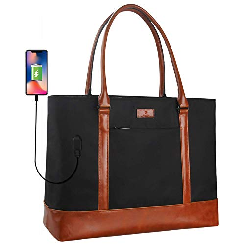 Monstina Woman Laptop Tote Bag, USB Teacher Bag